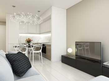 Пример отделки евро-апартамента в ЖК ONLY